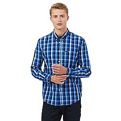Lee - Blue checked print shirt