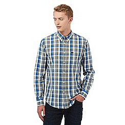 Lee - Khaki and blue checked print shirt