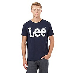 Lee - Navy logo print t-shirt