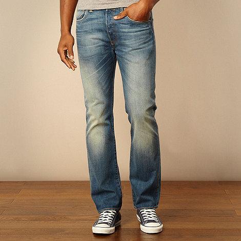 Levi+s - 501 shutter creek blue straight leg jeans
