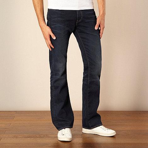 Levi+s - 527&#8482 dark blue slim bootcut jeans