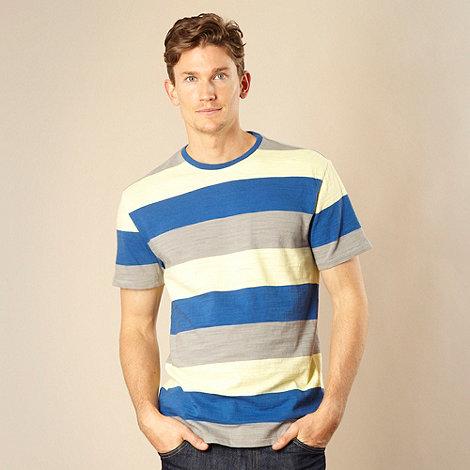 Levi+s - Royal blue block striped t-shirt