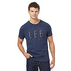 Lee - Navy 'Lee' print t-shirt