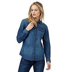 Wrangler - Blue denim western shirt