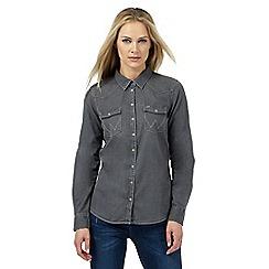 Wrangler - Grey denim western shirt