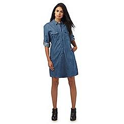 Wrangler - Blue denim shirt dress