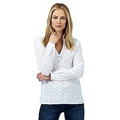 Wrangler - White button detail relaxed blouse