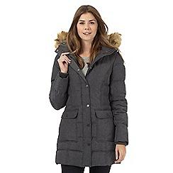 Wrangler - Grey padded long jacket