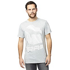 G-Star Raw - Grey logo print t-shirt