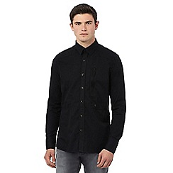 G-Star Raw - Black zip pocket denim shirt