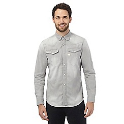 G-Star Raw - Grey denim slim fit shirt