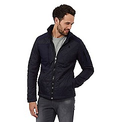G-Star Raw - Blue quilted zip jacket