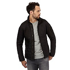 G-Star Raw - Black lightly quilted coat