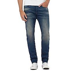 G-Star - Blue mid wash '3301' slim jeans