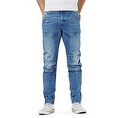 G-Star Raw - Light blue 'Elwood' mid wash slim fit jeans