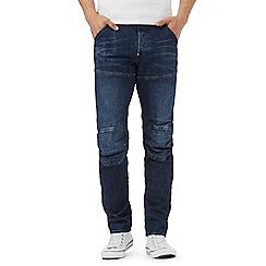 G-Star Raw - Blue 'Elwood' mid wash slim fit jeans
