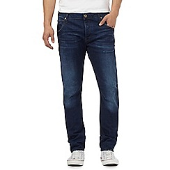 G-Star Raw - Navy mid wash 'Arc' slim jeans