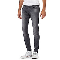 G-Star - Grey distressed 'Revend' super slim jeans