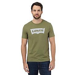 Levi's - Green logo print t-shirt