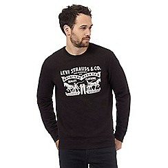 Levi's - Black logo print jumper