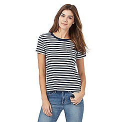 Levi's - Navy striped print t-shirt