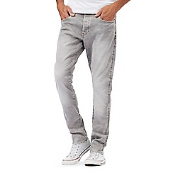 G-Star - Grey mid wash '3301' tapered jeans