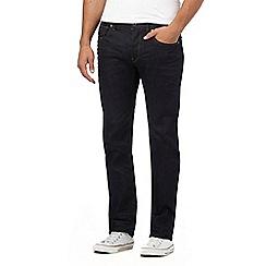 G-Star Raw - Dark blue raw wash '3301' straight leg jeans
