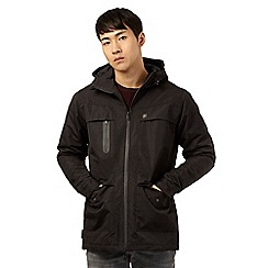 Voi - Big and tall black five pocket hooded coat