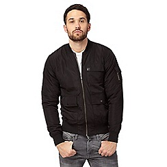 Voi - Big and tall black three pocket bomber jacket