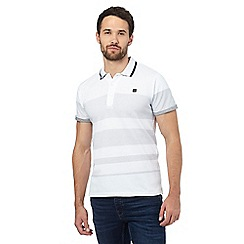 Voi - Big and tall white spotted polo shirt