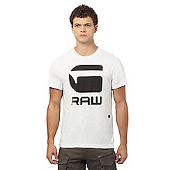 G-Star Raw - White logo print t-shirt