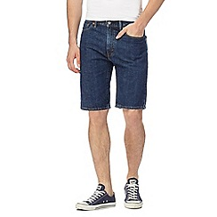 Levi's - 505 dark wash blue shorts