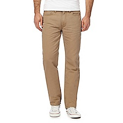 Levi's - Big and tall beige 514 twill straight leg trousers