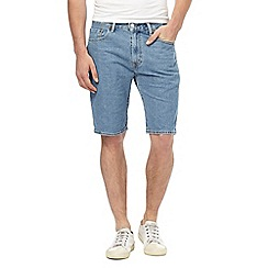 Levi's - Blue '505' light wash denim shorts