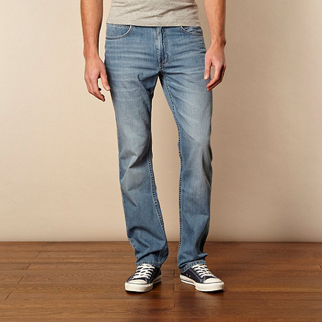 Lee - Light blue 'Brooklyn' straight leg jeans