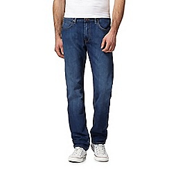 Lee - Blue mid wash 'Daren' straight leg jeans