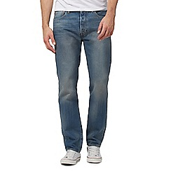 Levi's - Big and tall 501 vintage wash blue straight leg jeans