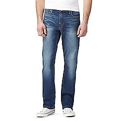 Levi's - 504 stretch mid wash blue straight leg jeans