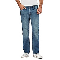 Levi's - Big and tall blue '501' straight leg jeans