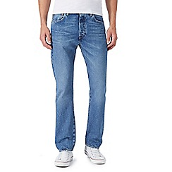 Levi's - '501' blue light washed straight leg jeans