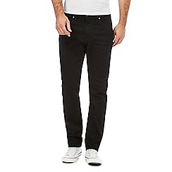 Levi's - Black '502' tapered jeans