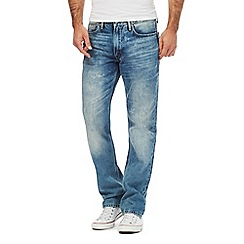 Levi's - Blue '514' mid wash straight leg jeans