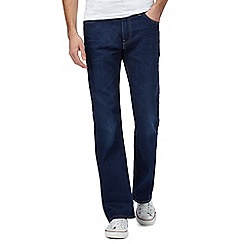 Levi's - '527' dark wash mid blue bootcut jeans