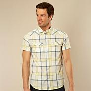 Yellow large checked shirt