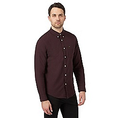 Lee - Red textured button down regular shirt
