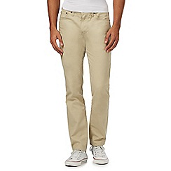 Levi's - Big and tall beige '511' slim fit trousers with linen
