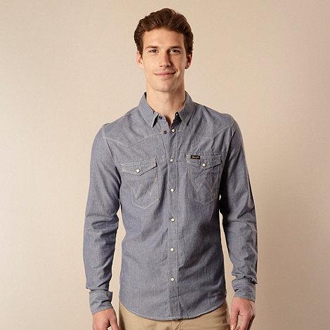 Wrangler - Blue long sleeve chambray shirt