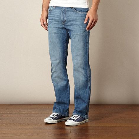 Wrangler - Pittsboro wornbroke dark blue bootcut jeans