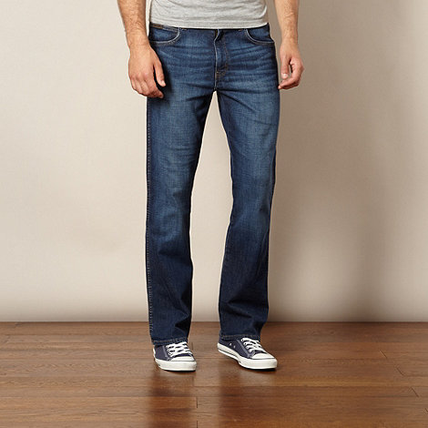 Wrangler - Pittsboro nightbreak dark blue bootcut jeans
