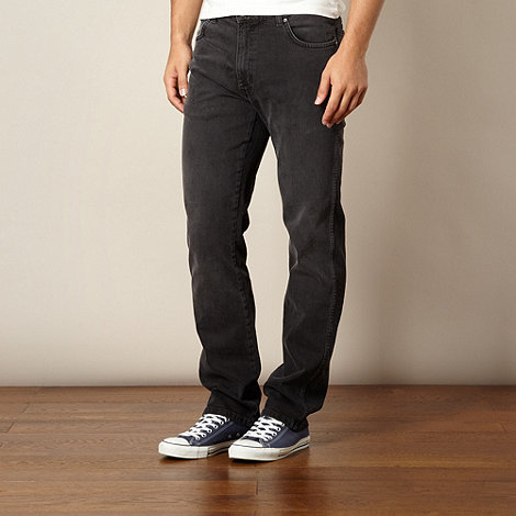 Wrangler - Texas gravel grey regular fit jeans